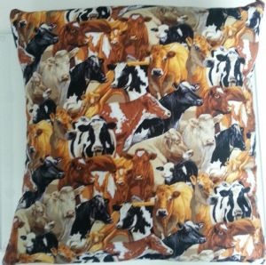 LARGE CATTLE COW THEMED CUSHION - Animals